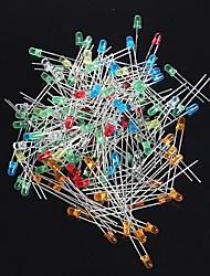 3 milímetros levou diodos - (vermelho + amarelo azul branco laranja + + + + verde) (120 unidades)