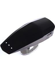 alliage d'aluminium de 360 degrés conduit diaplay détecteur voiture de radar anti double langage de contrôle vd russe anglais de vitesse de la voix