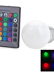 E26 / E27 3 w 1 pannocchia 100-200 lm colore cangiante mondo lampadine AC telecomandato 100-240 v