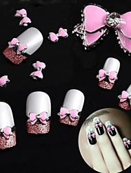 10PCS 3D Alloy Manicure Activities Bright Lovely With Drill Bow Manicure Decorations