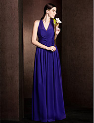 LAN TING BRIDE Floor-length V-neck Bridesmaid Dress - Open Back Sleeveless Chiffon