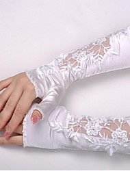 Elbow Length Glove Elastic Satin Bridal Gloves Spring Fall Winter