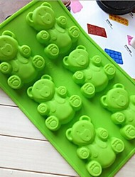 6 Hole Baby Bear Cake Mold Ice Jelly Chocolate Mold,Silicone 31×18×2.2 CM(12.2×7.1×0.9 INCH)