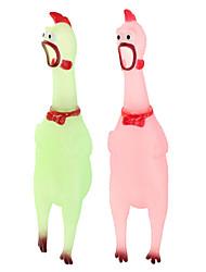 schreien Huhn Stil Gummispielzeug für Hunde / Katze / Menschen-rosa / grün