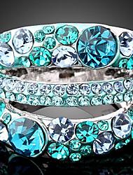 Statement Rings Cubic Zirconia Rhinestone Alloy Fashion Statement Jewelry Purple Emerald Jewelry Party 1pc