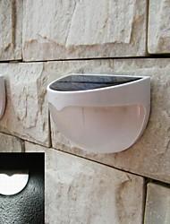 6 LED Light-control Solar Powered Fence Gutter Wall Roof Garden Stair Light Lamp