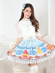 Blue Pretty Lolita Easter Story Princess Kawaii Skirt Lovely Cosplay