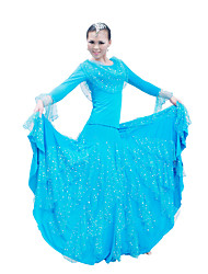 Ballroom Dancewear Women's Spandex Sequined Ballroom Dance Outfits (More Colors)