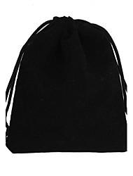 Rectangle-Shaped Velvet Gift Bags Black (1Pc)