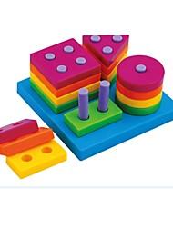 enfant géométrique carte de tri primaire bébé drôle blocs d'empilage jouet éducatif