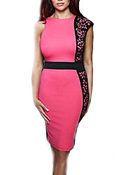 Vestido de renda sleevless bodycon