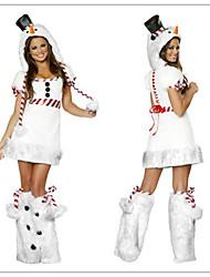 pelliccia bianca manca Santa abito adulto costume di donna di Natale