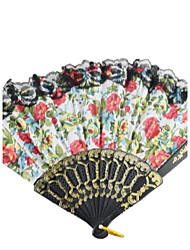 Big  Cloth Hand Fan---Set of 4