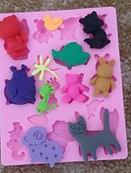 animaux poisson chat lapin en forme de gâteau fondant moule en silicone chocolat