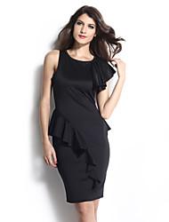 vestido de cuerpo consciente textura unido colmena del negro de las mujeres