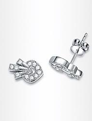 Women's Roxi Delicate Strawberry Earrings Gift Send Your Girlfriend Workmanship White Zircon Stud Earring(1 Pair)