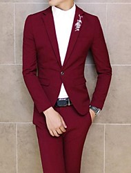 Men's Korean Fashion Slim Long Sleeved Wedding Dress Tailored Suit