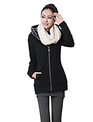Women's Fall Winter Coat,Solid Long Sleeve