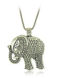 Vintage Style Tibetan Silver Elephant Pendants Necklaces