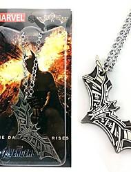 Batman Bat Pendant Copper Necklace Movie Cosplay Accessory