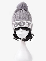 Unisex's Cute Jacquard Weave Letter Knitted Hat