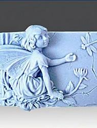 flor de fadas libélula bolo fondant forma molde de silicone de chocolate