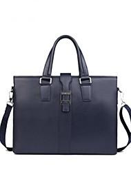 bolso bolsa de ordenador portátil hombres del maletín ocasional genuino del mensajero del cuero