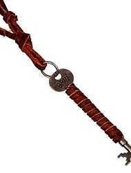 Retro 44cm Mem's Multicolor Leather Necklaces(1 Pc)