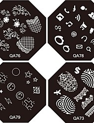 50PCS Mixed Metallic Golden & Silver Color Zipper Style 3D-Design Stickers