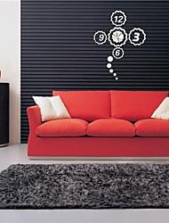 """22 """"h guirlande de style moderne décoration 3d bricolage miroir acrylique horloge murale"""