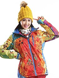 Women's Fashional Thermal Thick Waterproof  Multi-color Skiing Jackets