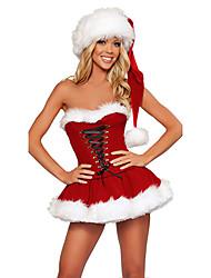 Carino Hot Red Dress Pelliccia Natale Costume (2 Pezzi)