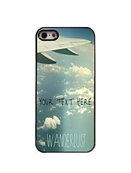 Personalized Phone Case - Plane Tail Design Metal Case for iPhone 5/5S