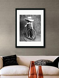 Framed Art Print, People Lovely Boy with Wire Rope by Nora Hernandez