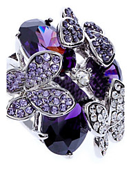 Statement Rings Zircon Cubic Zirconia Simulated Diamond Alloy Fashion Purple Jewelry Party 1pc