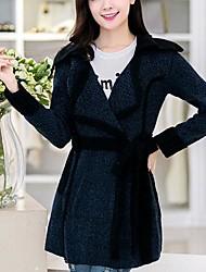 le manteau de cachemire boutonnière lâche des femmes (plus de couleurs)