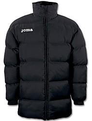 Joma poliamida outdoor preto / azul para baixo jaqueta de inverno jaqueta de treinamento da equipe de futebol
