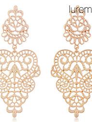 Lureme®Vintage Alloy Hollow Drop Earrings
