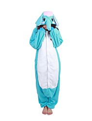 Kigurumi Pajamas Elephant Leotard/Onesie Halloween Animal Sleepwear Sky Blue Patchwork Polar Fleece Kigurumi UnisexHalloween / Christmas