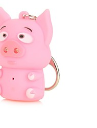 Cartoon Piggy LED Keychain Flashlights(AG10*3)