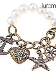 Bracelet Charmes pour Bracelets Perle / Alliage Ancre Mariage Bijoux Cadeau Blanc