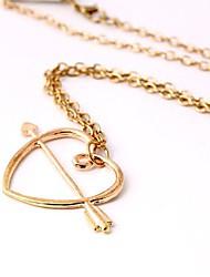 Women's  An Arrow Wear Heart Necklace(1ps)