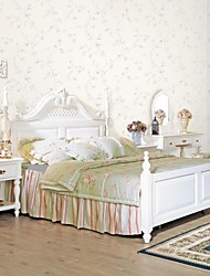 mur papier mural, classique papier peint à fleurs non-tissé