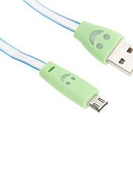 USB 2.0 Micro USB 2.0 Lumineux Câble Pour Huawei Sony Nokia HTC Motorola LG Lenovo Xiaomi 95 cm Plastique