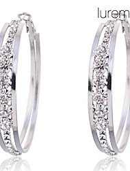 Women's Hoop Earrings Costume Jewelry Crystal Imitation Diamond Alloy Circle Jewelry For Party Daily