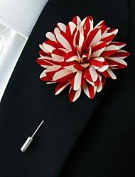 main multi-couleur des fleurs de polyester revers boutonnière pour hommes