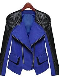 Women's Lapel Patchwork Jack Coat (More Colors)