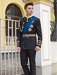 Black&Blue Slim Fit Tuxedo In Polyester