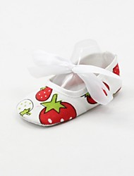 Girl's Flats Spring / Fall First Walkers Fabric Outdoor / Casual Flat Heel Lace-up White