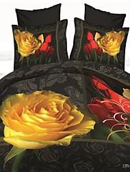 housse de couette, vente chaude literie 3d définit drap de lit housse de couette réversible définir lit dans un sac avec motif hd